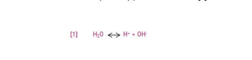 水中氢离子反应方程式